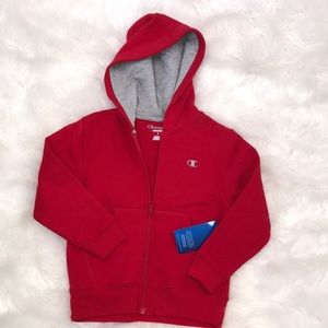 Little kids red Champion hoodie NWT